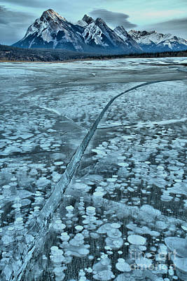 Photograph - Ice Cracks And Bubbles by Adam Jewell