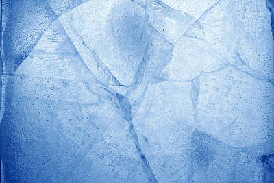 Ice Cracks Art Print by Les Cunliffe