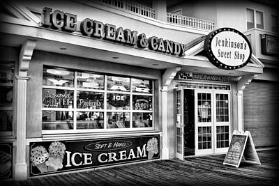 Store Fronts Photograph - Ice Cream And Candy Shop At The Boardwalk - Jersey Shore by Angie Tirado
