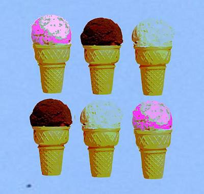 Ice Cream  Art Print by Chandler  Douglas