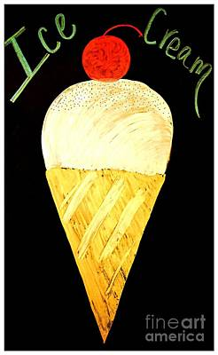 Digital Art - Ice Cream Cone by Darla Wood