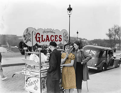 Photograph - Ice Cream Girl 1937 by Andrew Fare