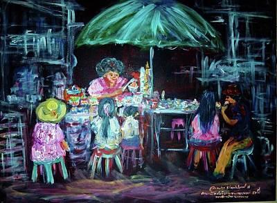 Painting - Ice Cream Lady by Wanvisa Klawklean