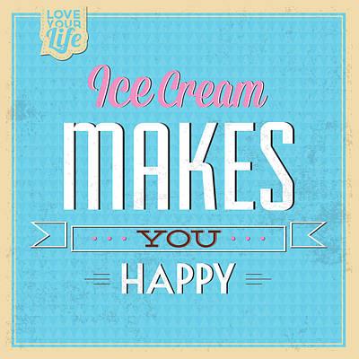 Fun Digital Art - Ice Cream by Naxart Studio