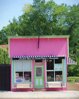 Another Time Photograph - Ice Cream Parlor by Tom Reynen