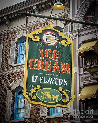 Ice Cream Shop Art Print by Perry Webster