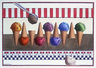 Painting - Ice Cream Shoppe by Cory Clifford