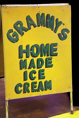 Photograph - Ice Cream Sign by Chris Flees