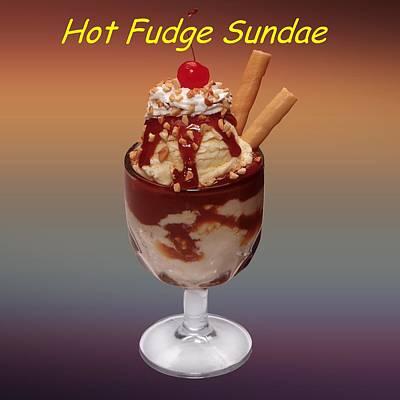 David Drawing - Ice Cream Sundae Customized  by Movie Poster Prints