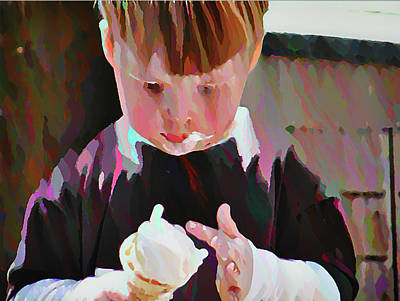 Children Ice Cream Digital Art - Ice Cream Time by Bill Cannon
