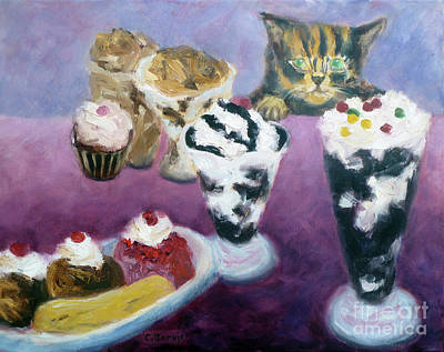 Painting - Ice Cream Treats by Carolyn Jarvis