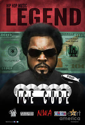 Art Print featuring the digital art Ice Cube  by Dwayne Glapion