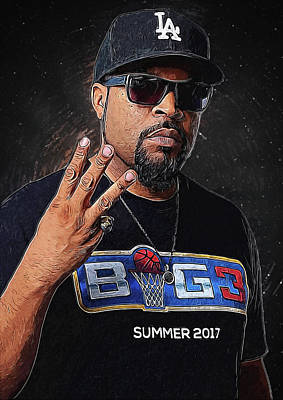 Ice-t Digital Art - Ice Cube by Semih Yurdabak