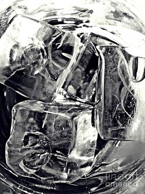 Photograph - Ice Cubes 2 by Sarah Loft