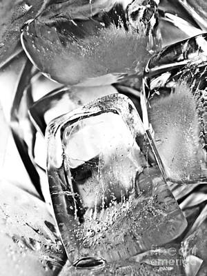 Photograph - Ice Cubes 4 by Sarah Loft