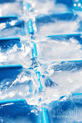Drip Photograph - Ice Cubes by Carlos Caetano