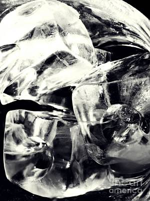 Photograph - Ice Cubes by Sarah Loft