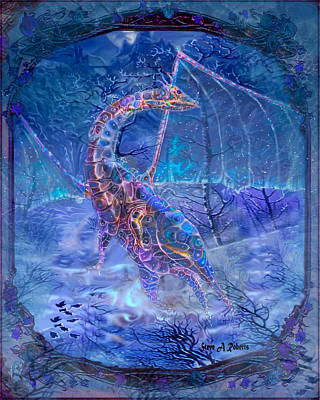 Ice Dragon Art Print