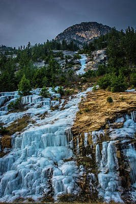 Photograph - Ice Fall by Dave Rennie