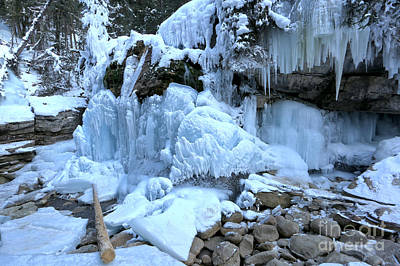 Photograph - Ice Falls At Maligne Canyon by Adam Jewell
