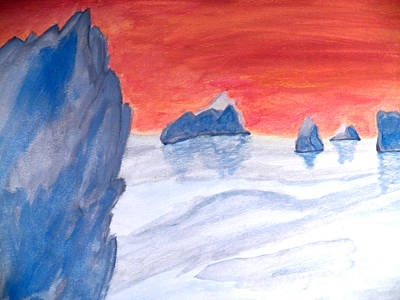 Painting - Ice Field by Corinne Elizabeth Cowherd
