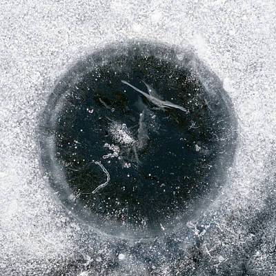 Photograph - ice Fishing Hole 24 by Steven Ralser