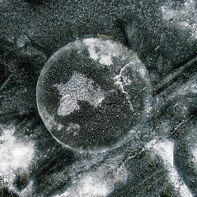 Photograph - ice Fishing Hole 25 by Steven Ralser