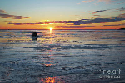 Photograph - Ice Fishing On Summerside Harbour by Verena Matthew
