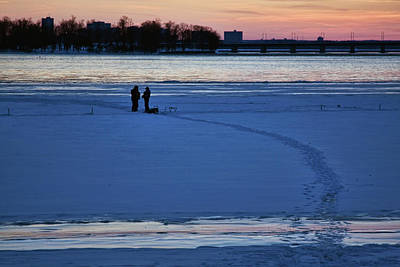 Photograph - Ice Fishing Ottawa River by Tatiana Travelways