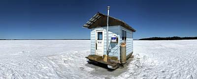 Photograph - Ice Fishing Shack by Jakub Sisak