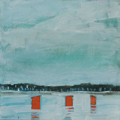 Painting - Ice Fishing Village by Tim Nyberg
