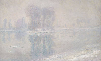 Melting Ice Painting - Ice Floes, 1893 by Claude Monet