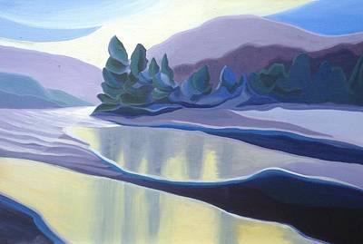 Painting - Ice Floes by Barbel Smith
