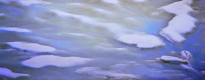 Photograph - Ice Flow Abstract 1 by Nadalyn Larsen
