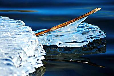 Photograph - Ice Formation 12 by Jeanette Fellows
