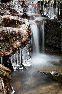 Photograph - Ice Formations II by Carol Montoya