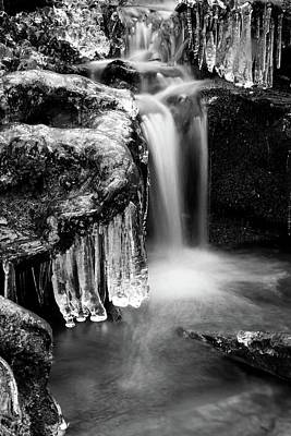 Photograph - Ice Formations II In Black And White by Carol Montoya
