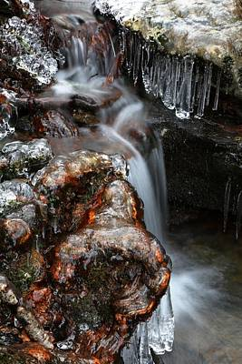 Winter Photograph - Ice Formations IIi by Carol R Montoya