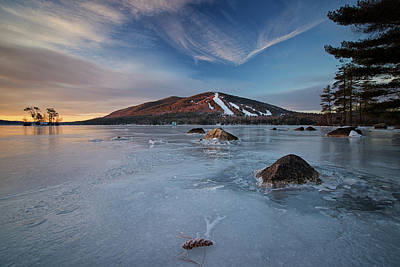 Photograph - Ice Forms On Moose Pond by Darylann Leonard Photography