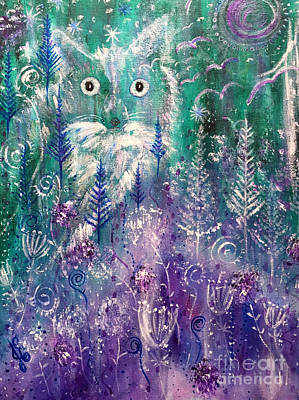 Painting - Ice Fox by Julie Engelhardt