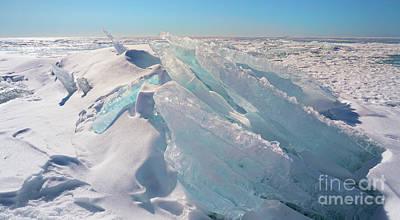 Photograph - Ice Heap On Georgian Bay by Charline Xia