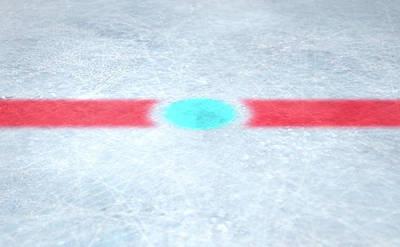 Ice Hockey Centre Art Print by Allan Swart
