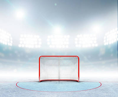 Stadium Digital Art - Ice Hockey Goals In Stadium by Allan Swart