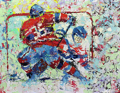 Ice Hockey Painting - Ice Hockey No1 by Walter Fahmy
