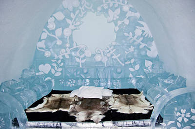 Kiruna Photograph - Ice Hotell, Art By Ice by Tamara Sushko