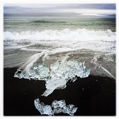 Beach Photograph - Ice In Iceland by Matthias Hauser