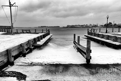Ice In Water Photograph - Ice In The Bay by John Rizzuto