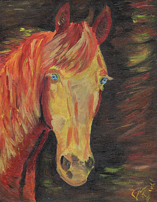 Equine Painting - Ice In The Flame by Danielle Dutil