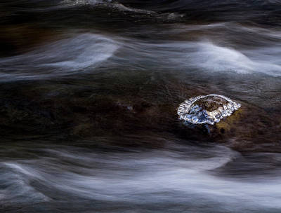 Photograph - Ice Island In A Stream by Jean Noren