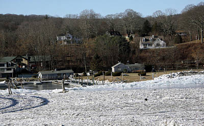 Photograph - Ice Jam In Haddam by Gerald Mitchell
